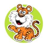 Тигр - картинка на детский шкафчик