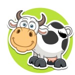 Корова - картинка на детский шкафчик