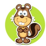 Бобер - картинка на детский шкафчик