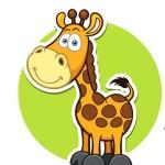 Жираф - картинка на детский шкафчик