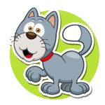 Кошка - картинка на детский шкафчик