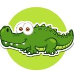 Крокодил - картинка на детский шкафчик