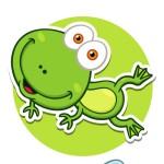 Лягушка - картинка на детский шкафчик