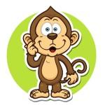 Шимпанзе - картинка на детский шкафчик