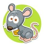 Мышка - картинка на детский шкафчик