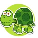 Черепаха - картинка на детский шкафчик