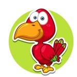 Попугай - картинка на детский шкафчик