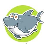 Акула - картинка на детский шкафчик