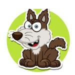 Волк - картинка на детский шкафчик