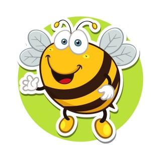 Пчела - картинка на детский шкафчик