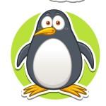 Пингвин - картинка на детский шкафчик