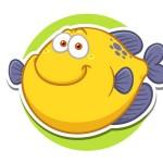 Рыбка - картинка на детский шкафчик