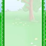 Фон по экологии с зеленым деревом