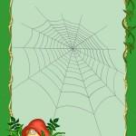Фон по экологии с паутинкой