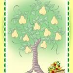 Фон с деревом груши