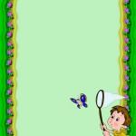 Фон с бабочкой для ДОУ