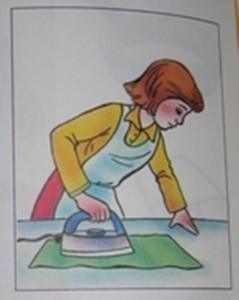 Мама гладит
