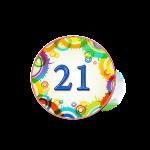 Номер 21 на кроватку в ДОУ
