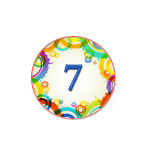 Номер 7 на кроватку в ДОУ