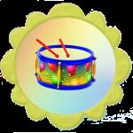 Барабан для группы солнышко