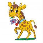 Жираф - клипарт на шкафчик