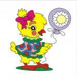 Цыпленок - клипарт на шкафчик