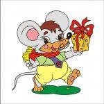 Мышка - клипарт на шкафчик