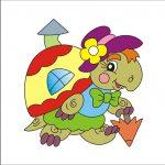 Черепаха - клипарт на шкафчик