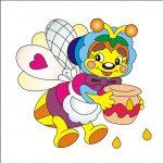 Пчелка - клипарт на шкафчик