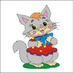 Котенок - клипарт на шкафчик