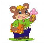 Медвежонок - клипарт на шкафчик