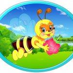 Овальная картинка Пчелка