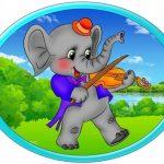Овальная картинка слон