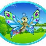 Овальная картинка бабочка