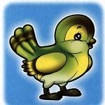 Птичка на шкафчик