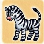 Зебра на шкафчик