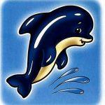 Дельфин на шкафчик