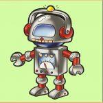 Игрушка робот на шкафчик