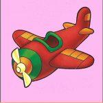 Игрушка самолет на шкафчик