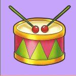 Игрушка барабан на шкафчик