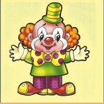 Игрушка клоун на шкафчик
