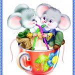 Мышата в чашке