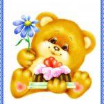 Медвежонок с цветком