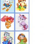 Сборник карточек с мягкими животными 3