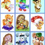 Сборник карточек с мягкими животными 4