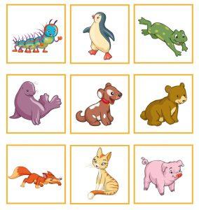 Животные для игры кто где живет 1