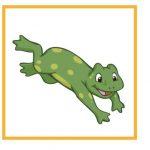 Карточка с лягушкой для дидактической игры