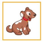 Карточка с собачкой для дидактической игры