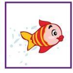 Карточка с рыбкой для дидактической игры