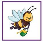 Карточка с пчелкой для дидактической игры